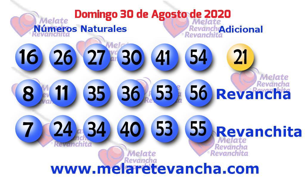 Melate del 2020-08-30