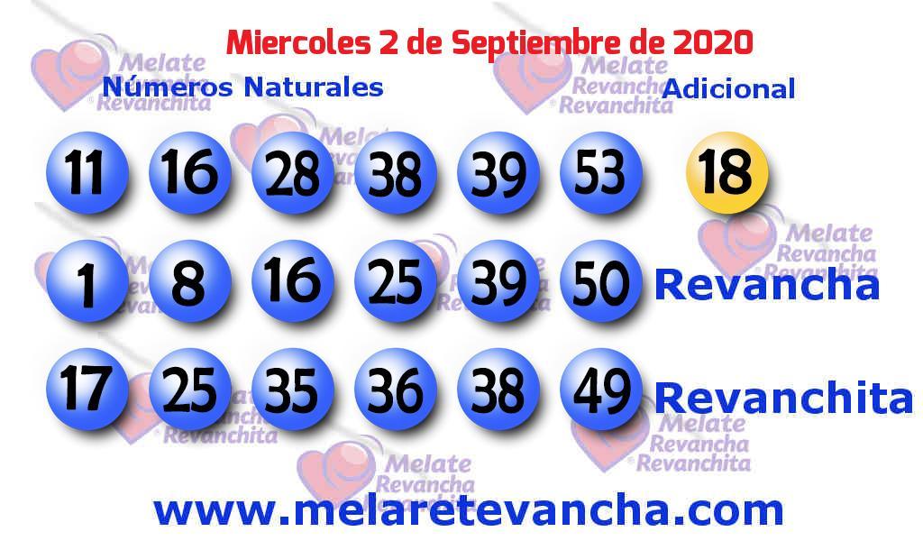 Melate del 2020-09-02