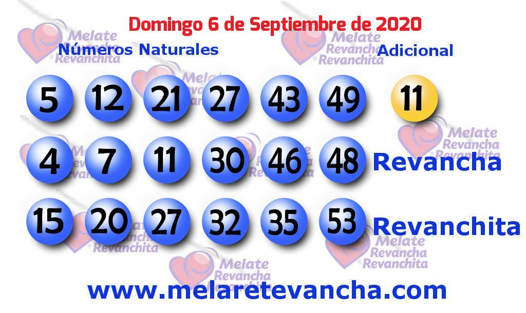 Melate del 2020-09-06