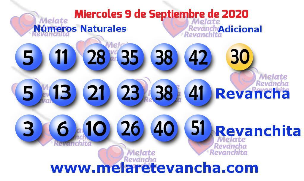 Melate del 2020-09-09
