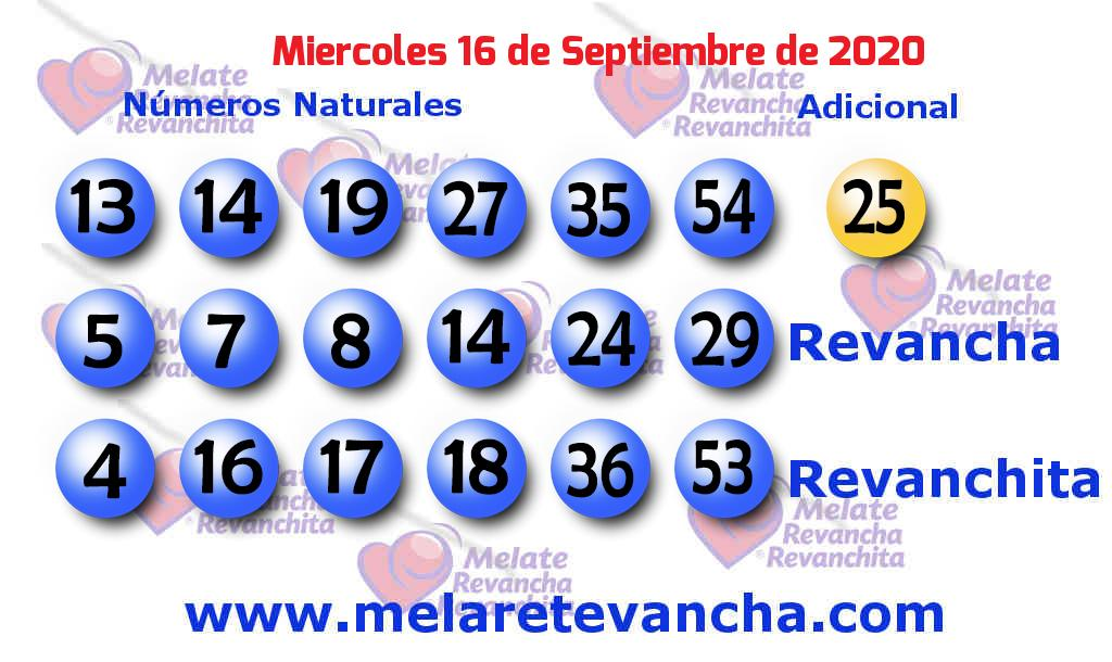 Melate del 2020-09-16