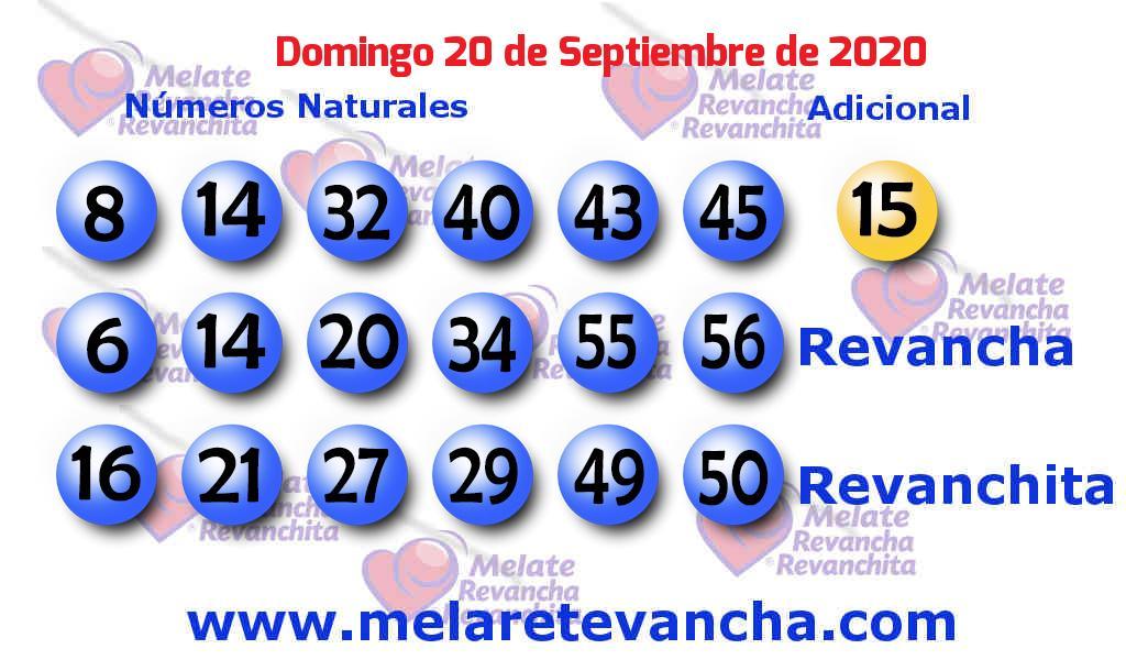 Melate del 2020-09-20