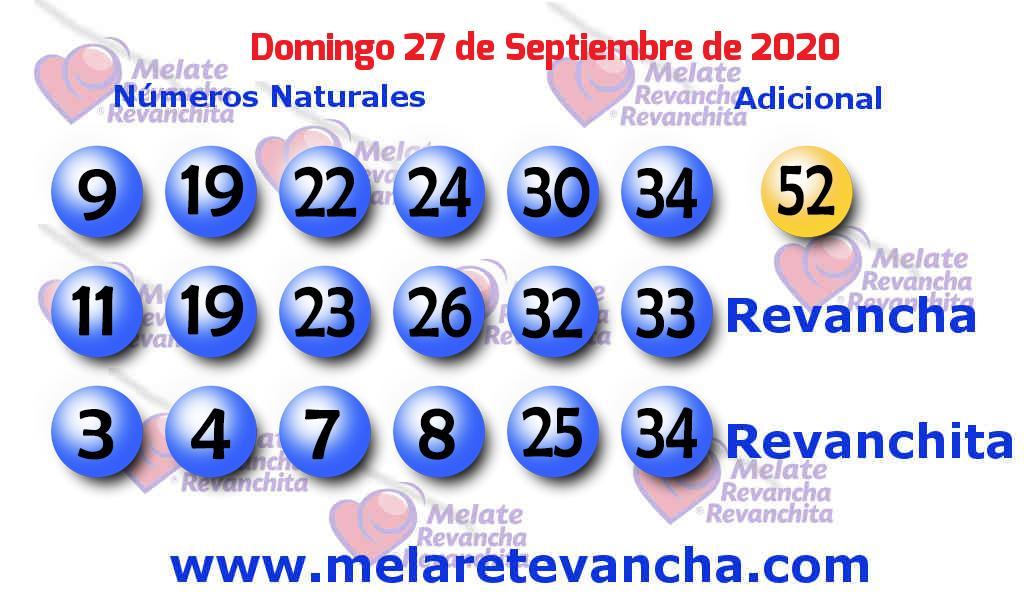 Melate del 2020-09-27