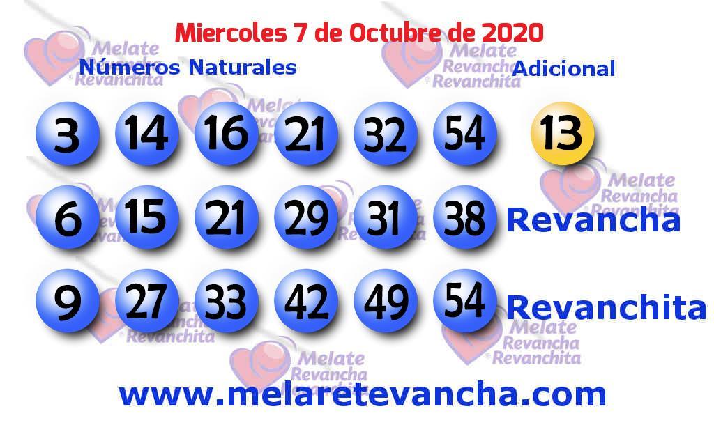Melate del 2020-10-07