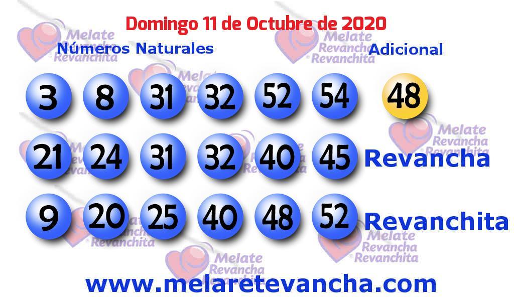 Melate del 2020-10-11