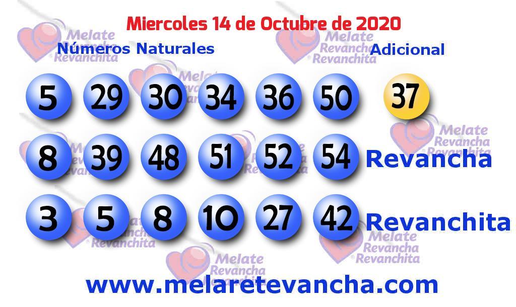 Melate del 2020-10-14