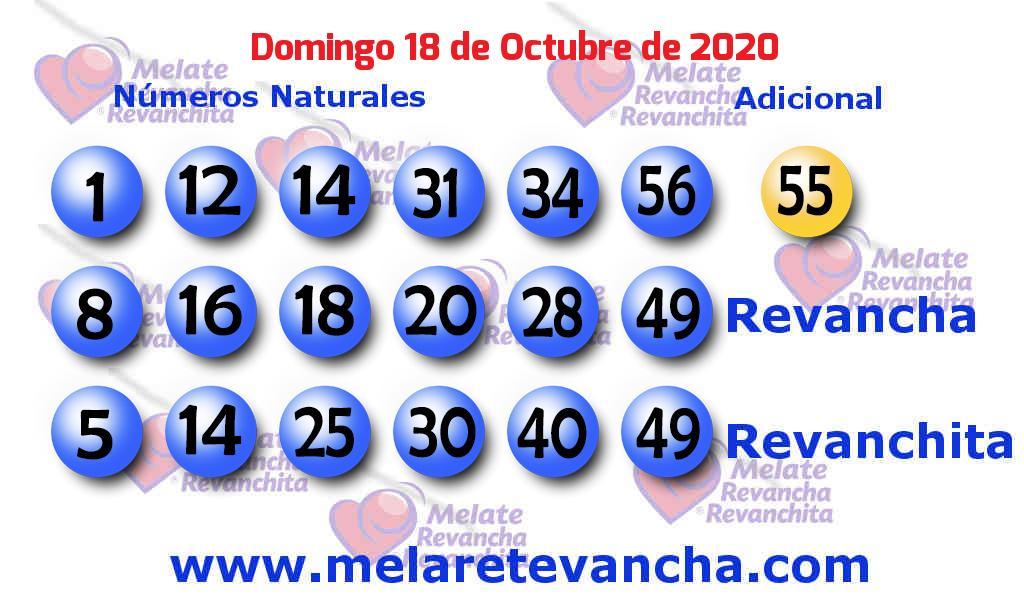 Melate del 2020-10-18