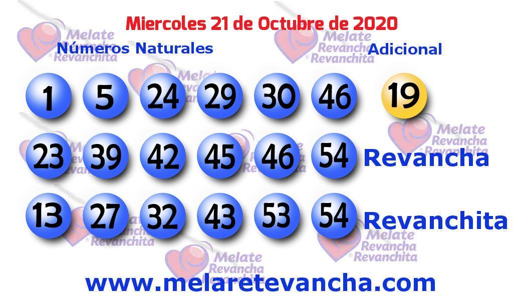 Melate del 2020-10-21