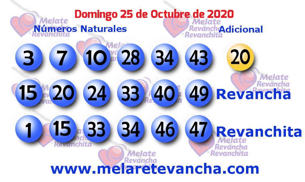 Melate del 2020-10-25