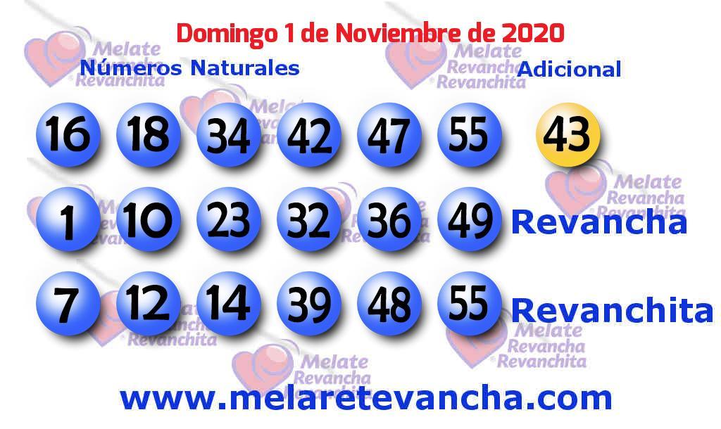 Melate del 2020-11-01