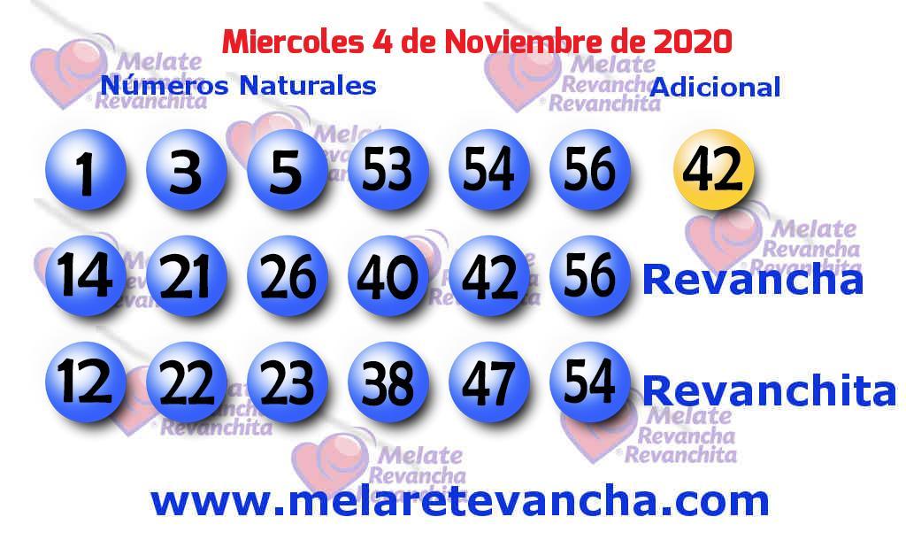 Melate del 2020-11-04