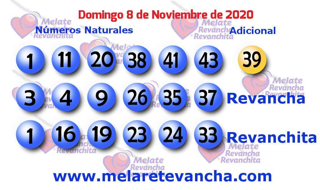 Melate del 2020-11-08