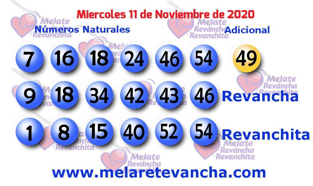 Melate del 2020-11-11