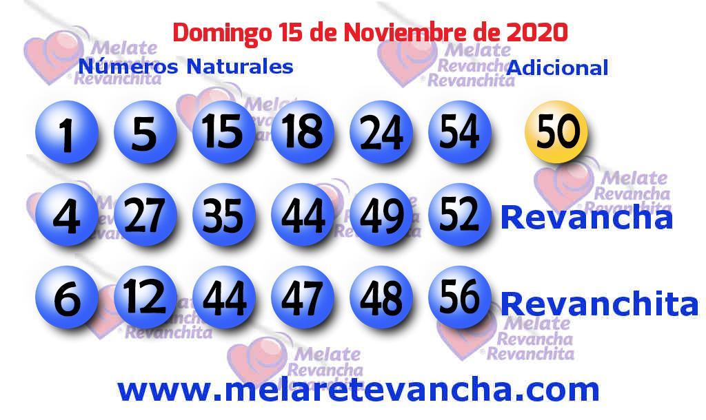 Melate del 2020-11-15