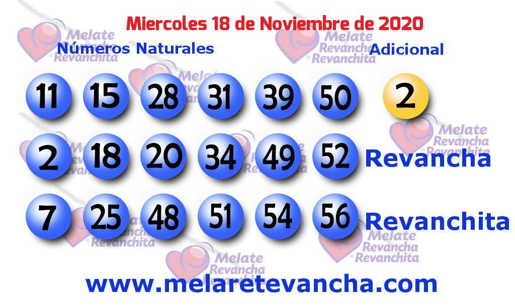 Melate del 2020-11-18