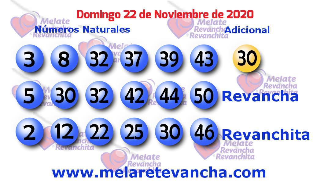 Melate del 2020-11-22