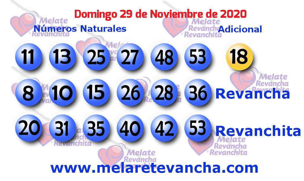 Melate del 2020-11-29