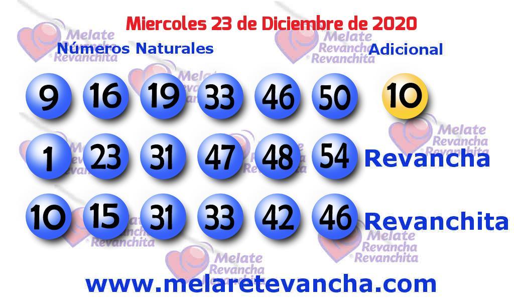 Melate del 2020-12-23
