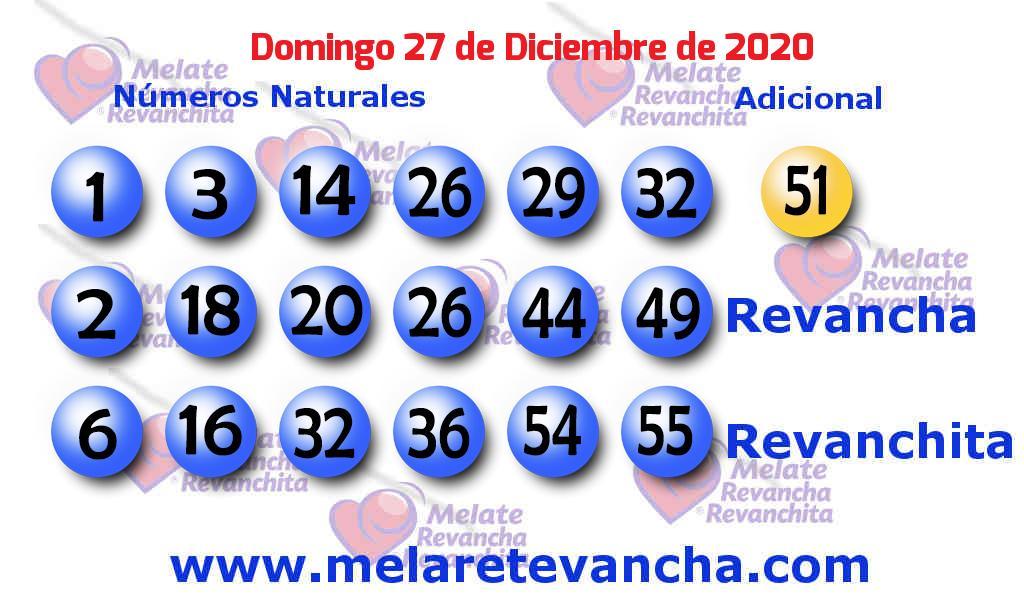 Melate del 2020-12-27