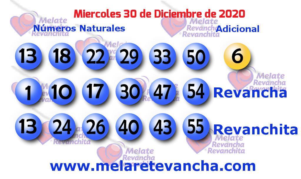 Melate del 2020-12-30