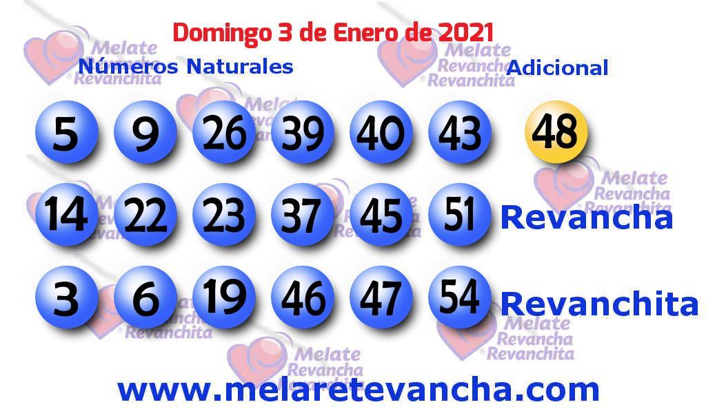 Melate del 2021-01-03