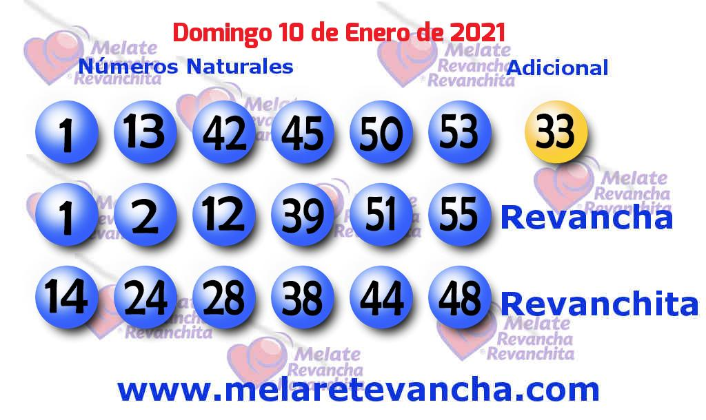 Melate del 2021-01-10