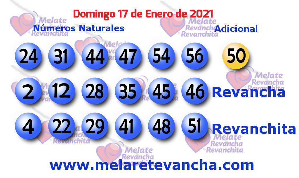 Melate del 2021-01-17