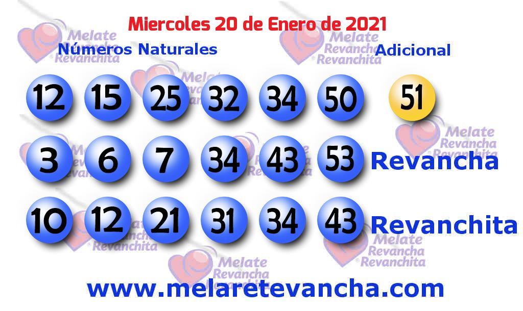 Melate del 2021-01-20