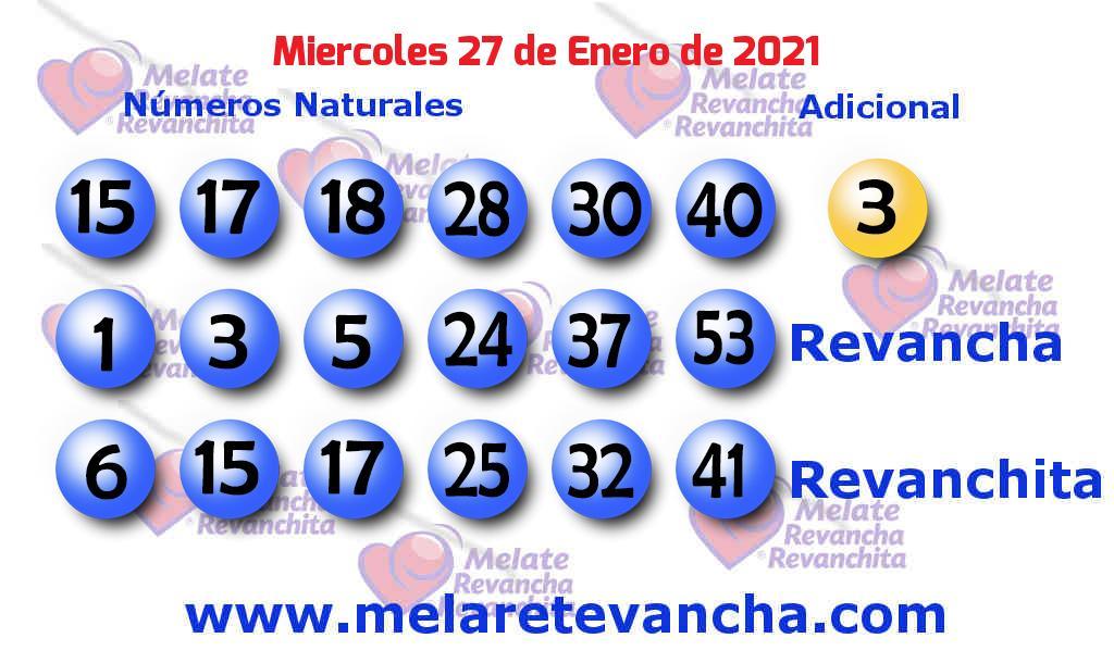 Melate del 2021-01-27