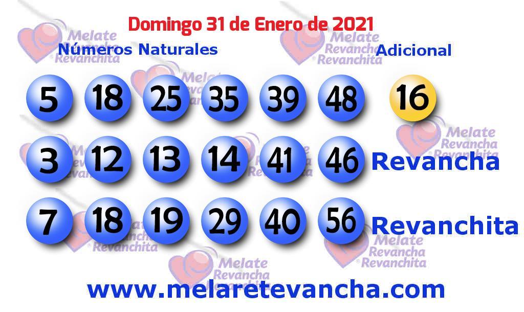 Melate del 2021-01-31