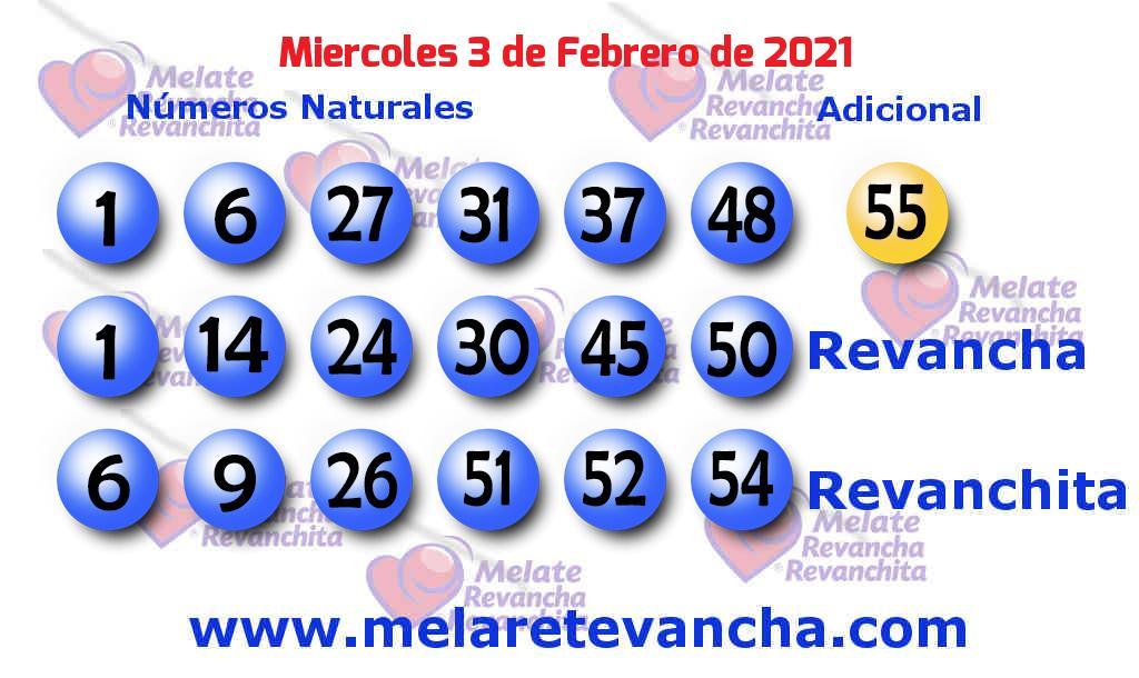 Melate del 2021-02-03