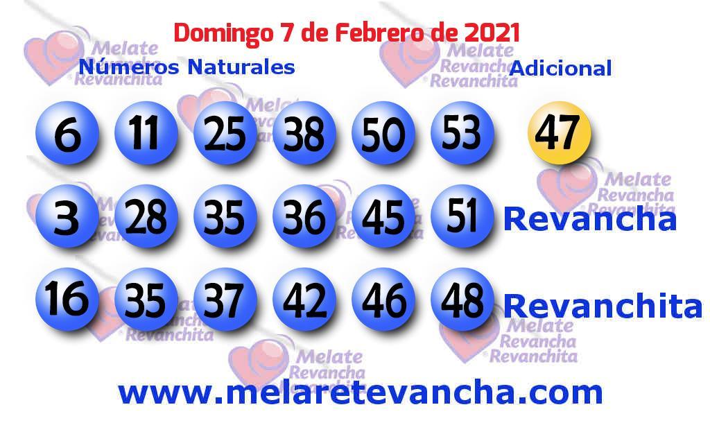 Melate del 2021-02-07