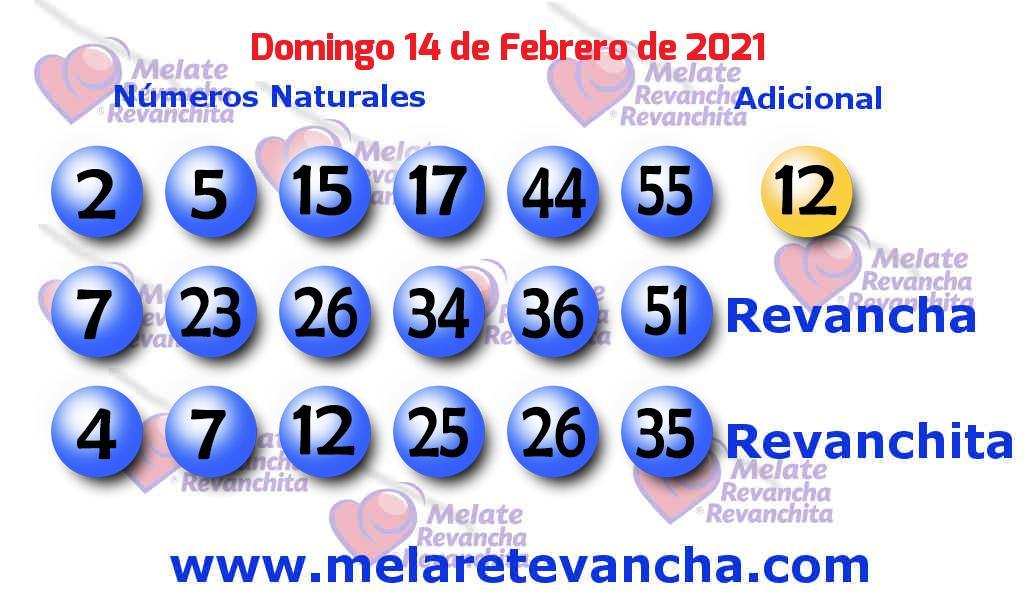 Melate del 2021-02-14