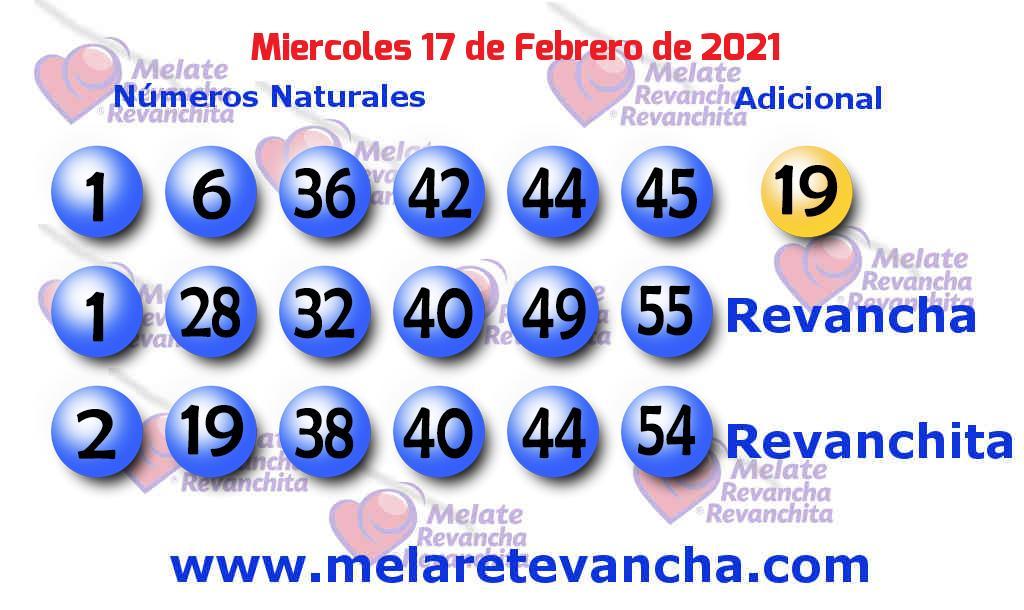 Melate del 2021-02-17