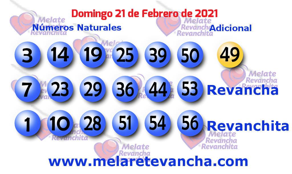 Melate del 2021-02-21