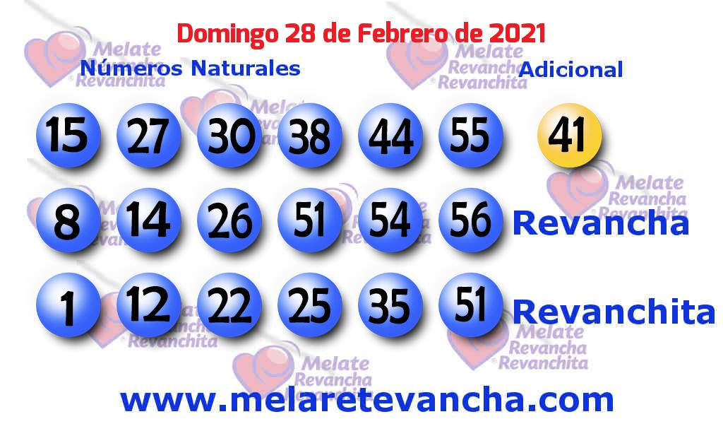 Melate del 2021-02-28