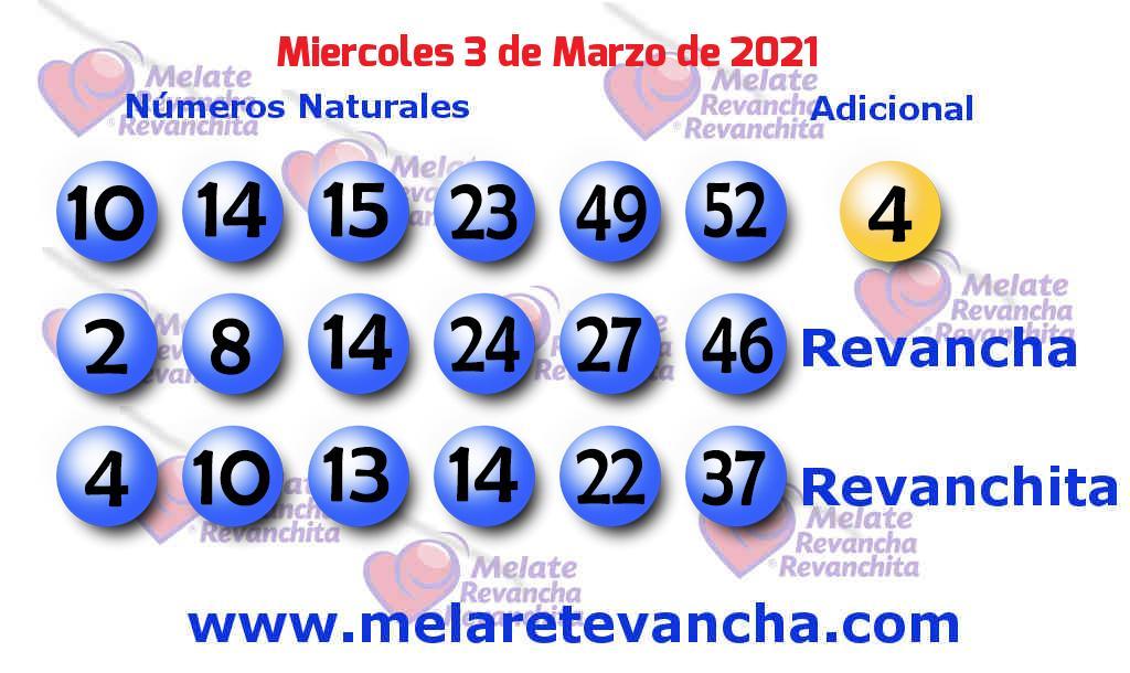 Melate del 2021-03-03