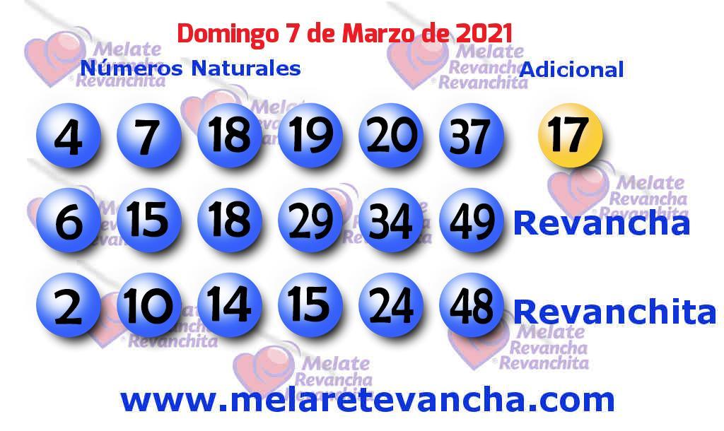 Melate del 2021-03-07
