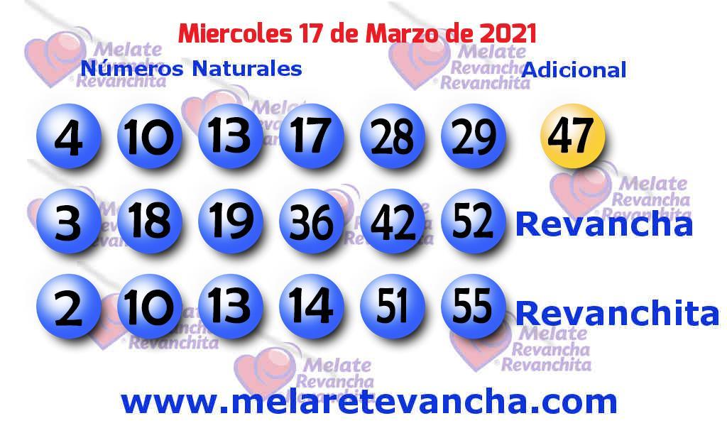 Melate del 2021-03-17