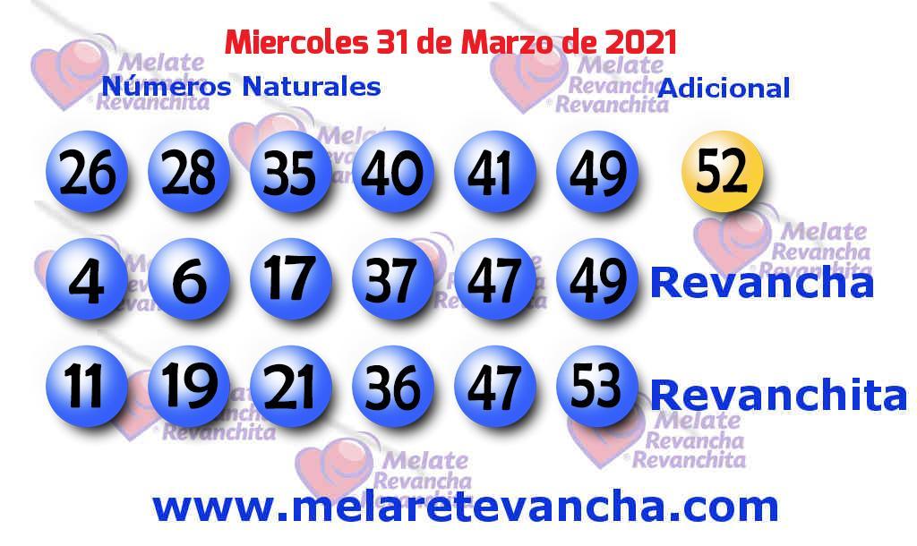 Melate del 2021-03-31