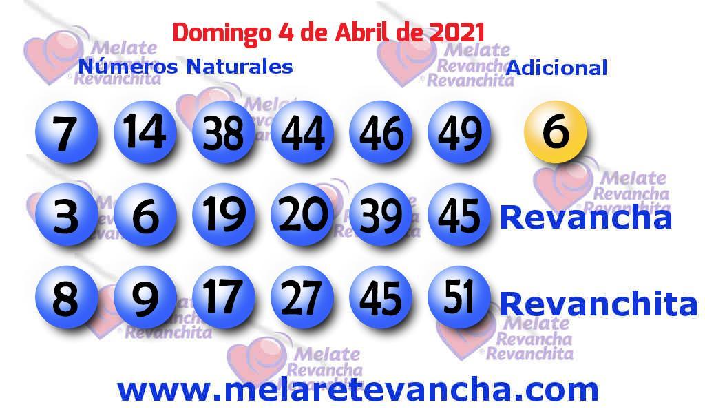 Melate del 2021-04-04