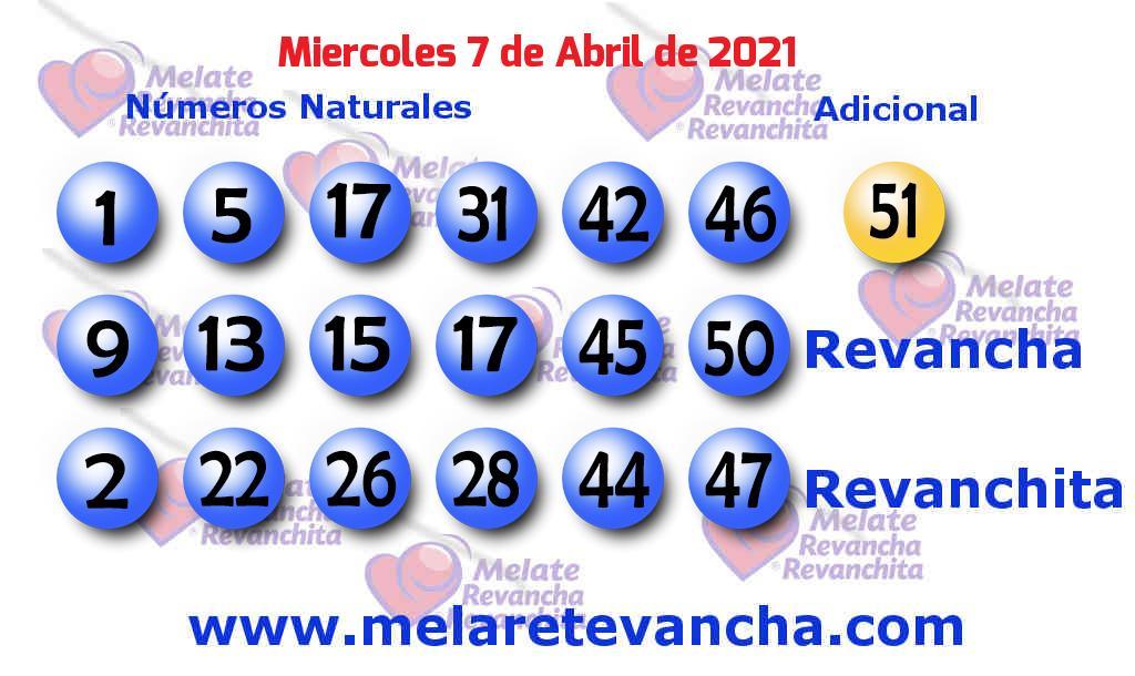 Melate del 2021-04-07