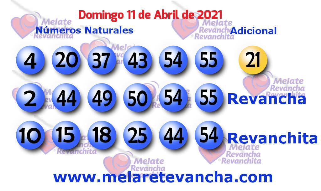 Melate del 2021-04-11