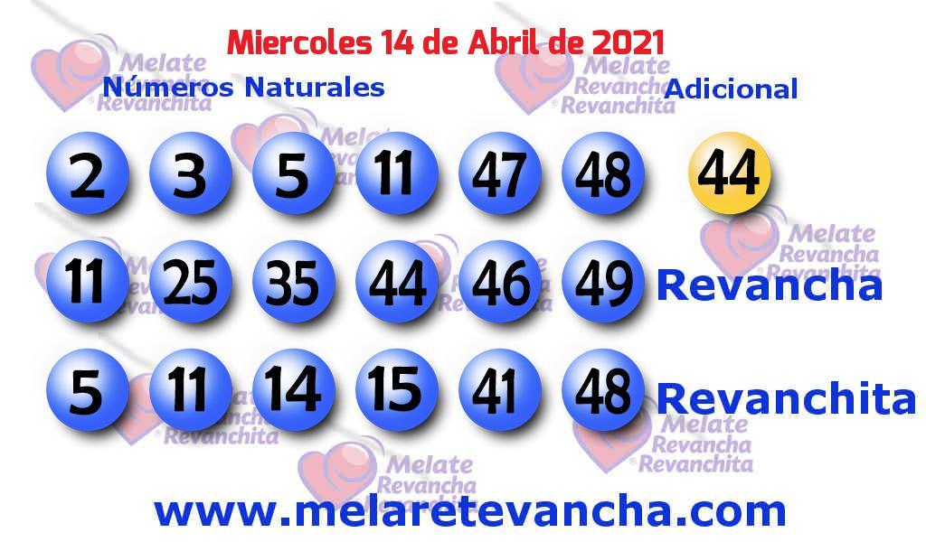 Melate del 2021-04-14