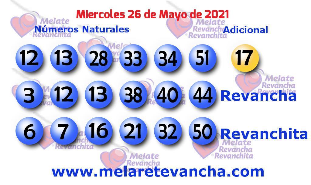 Melate del 2021-05-26