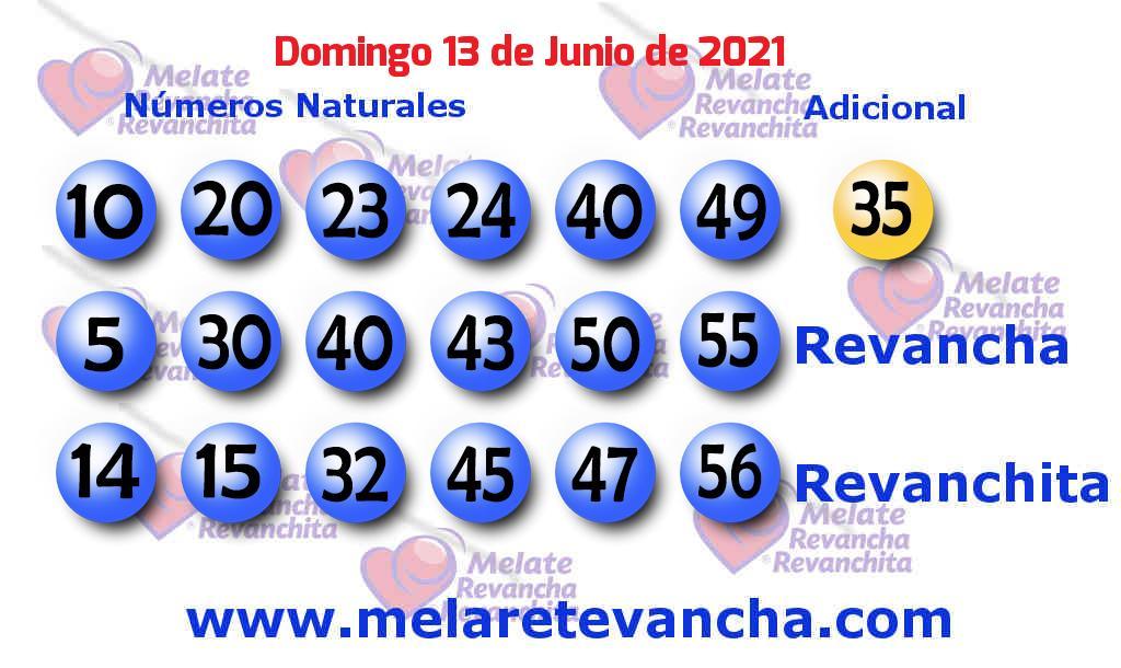 Melate del 2021-06-13