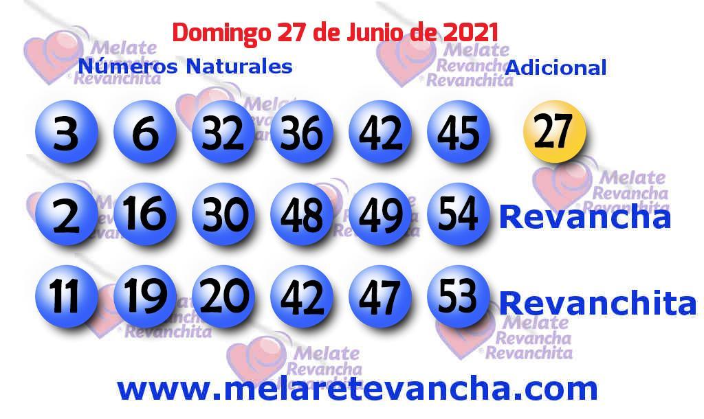Melate del 2021-06-27