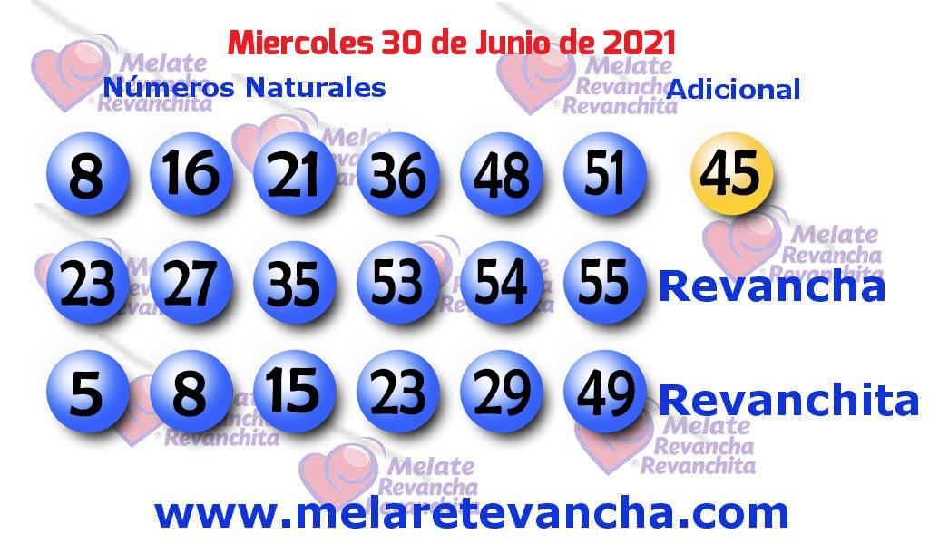 Melate del 2021-06-30