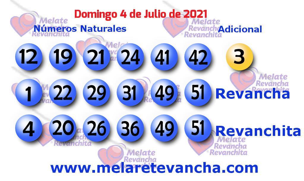 Melate del 2021-07-04