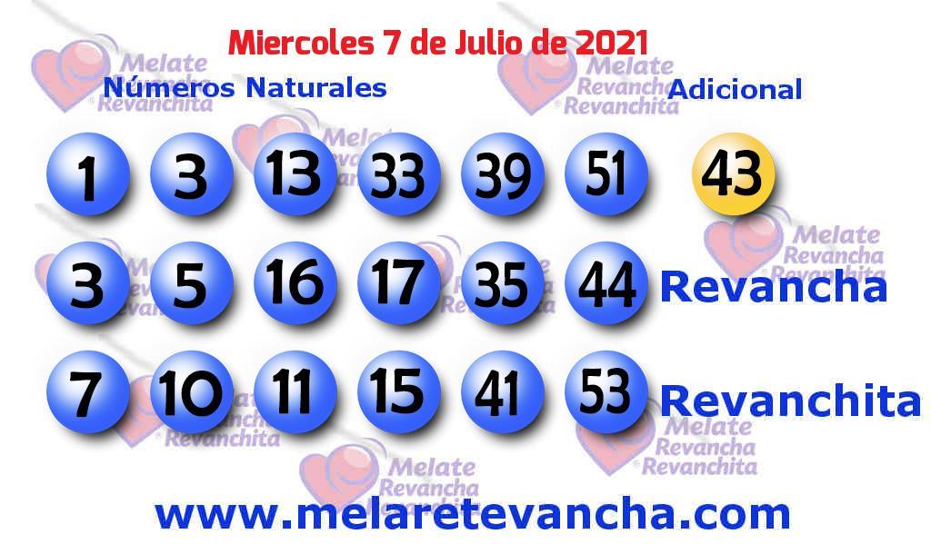 Melate del 2021-07-07
